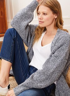 Shop Deryn Ecotec® Cardigan Blue Twist and more