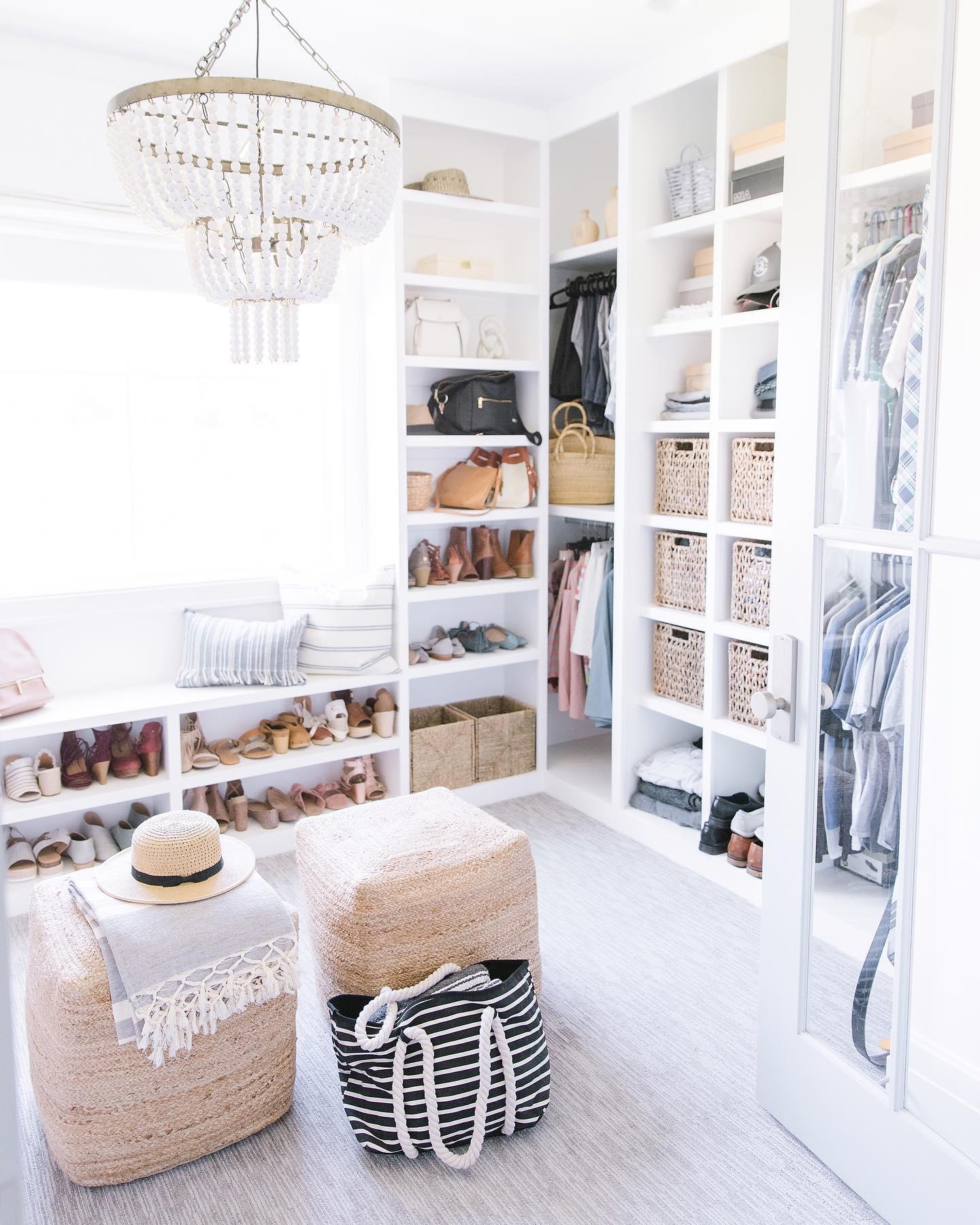 Modern coastal closet Instagram Post