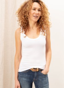 Shop Brenna Top with LENZING™ ECOVERO™ Pure White and more