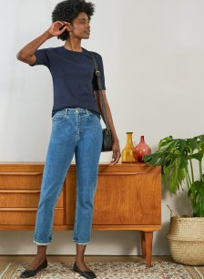 Shop The Organic Girlfriend Jean Washed Blue and more
