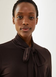 Shop Riley Blouse Rich Chocolate and more