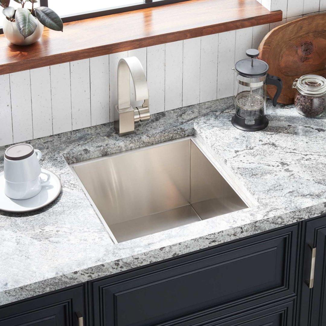 18 sitka stainless steel undermount prep sink