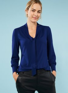 Shop Eleanor Ecovero™ Blouse Indigo and more