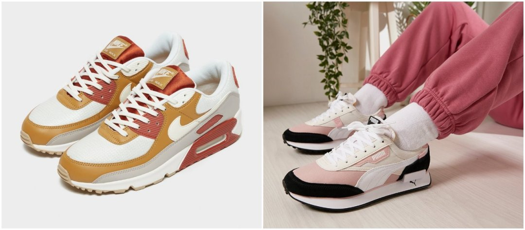 sneakertrendi 2021: colour block