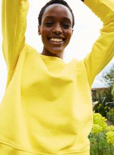 Shop Phoenix Organic Sweatshirt Laburnam Yellow and more