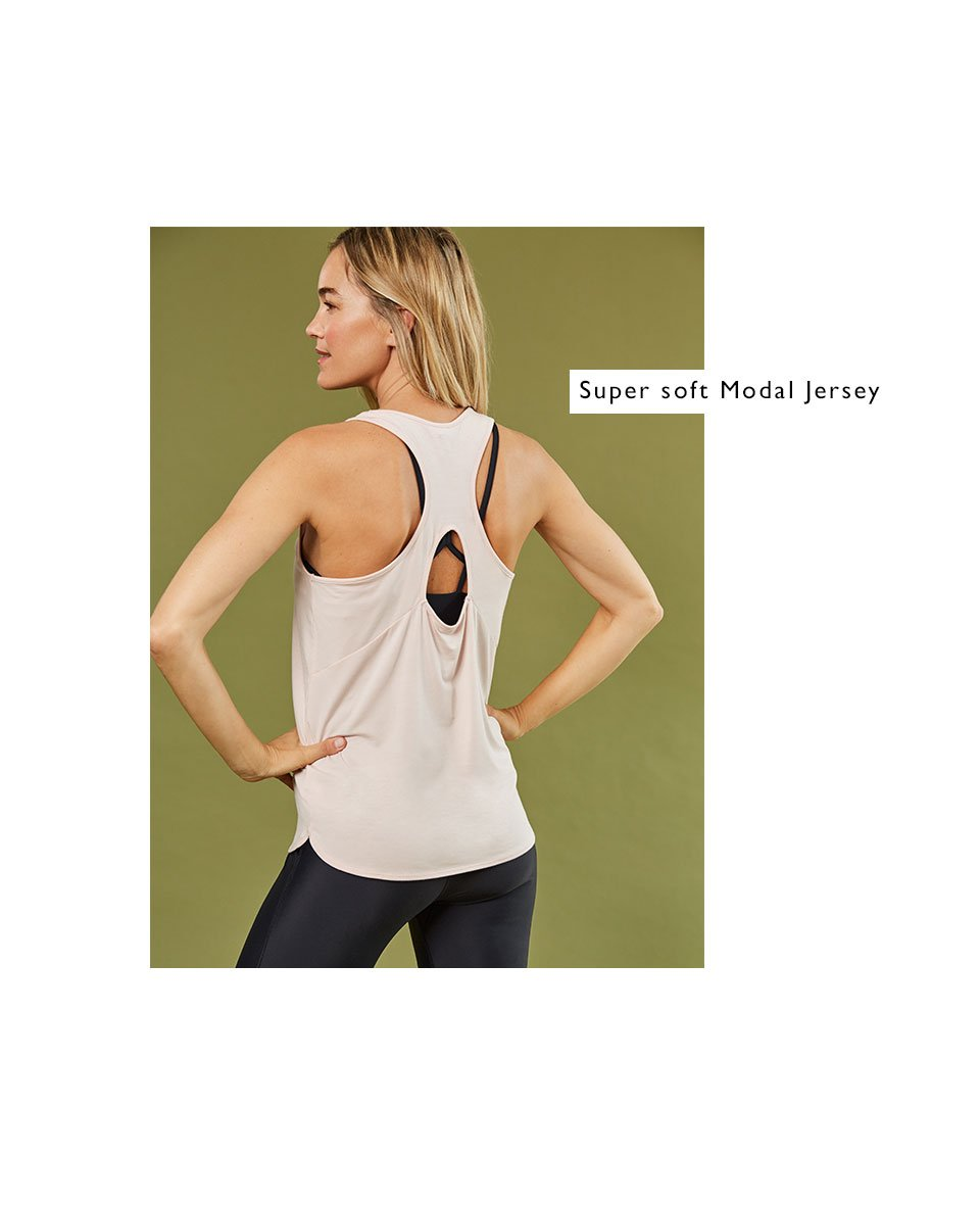 Shop The Active Modal Top Rose, The Active Econyl® Tank Caviar Black, The Active Econyl® Leggings Caviar Black and more