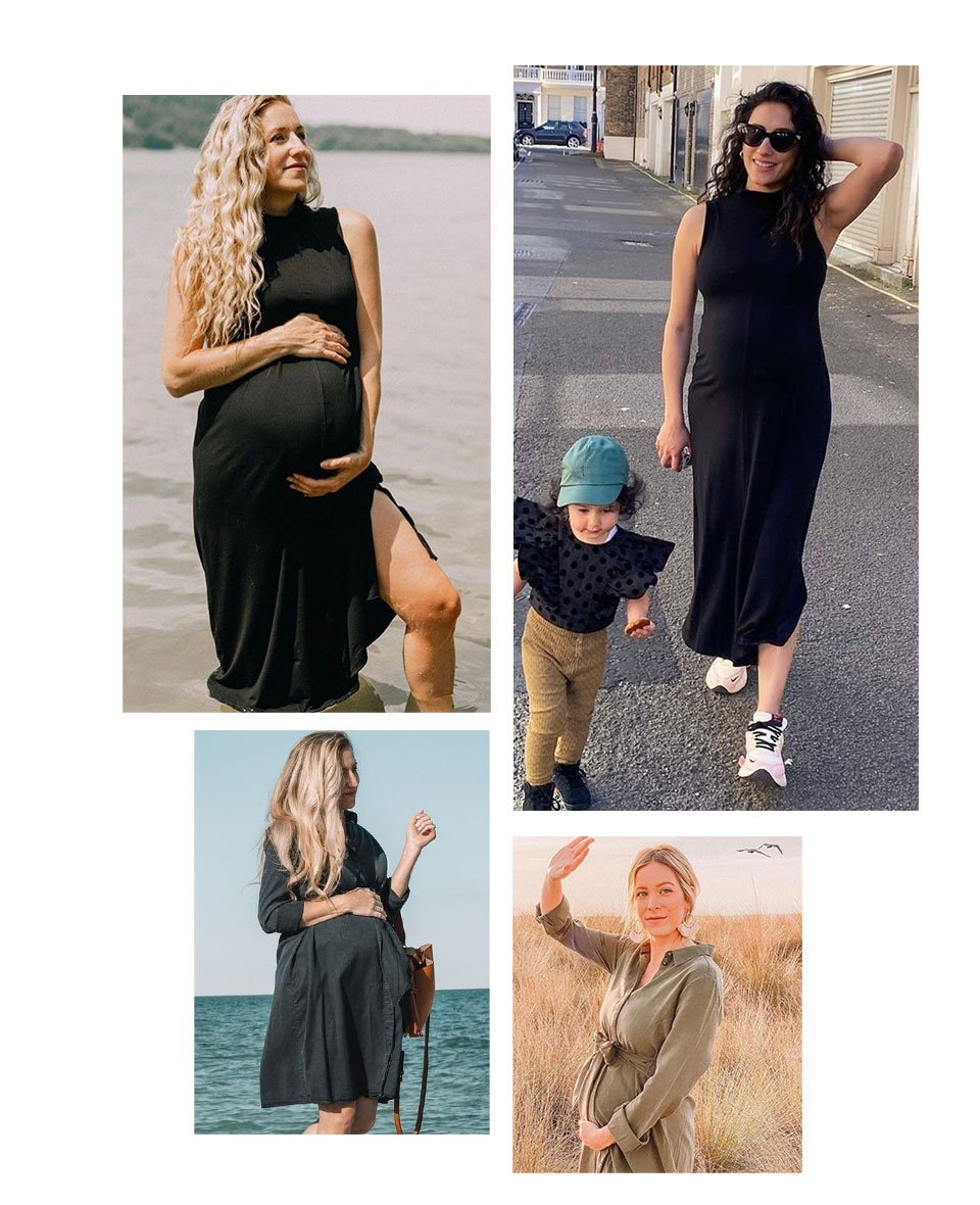 Shop Isabella Oliver Aiden Maternity Dress-Classic Navy, Isabella Oliver Stella Maternity Dress-Caviar Black and more