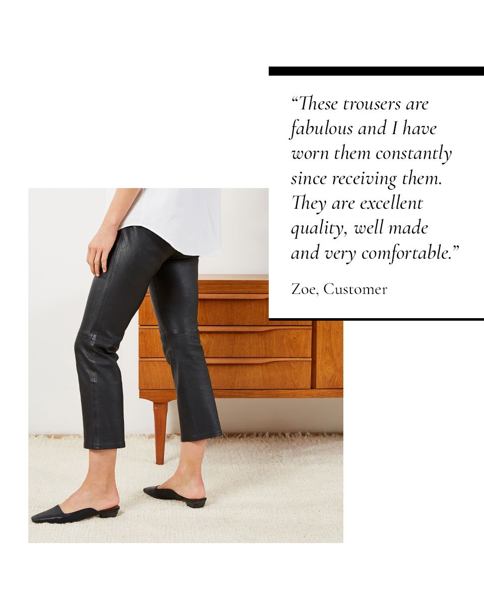 Shop Jemima Leather Trouser Caviar Black and more