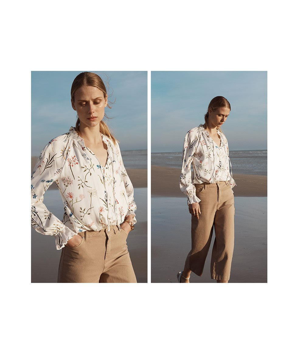 Shop Gail Jean Caramel, Anastasia Blouse Soft White Painterly Floral and more