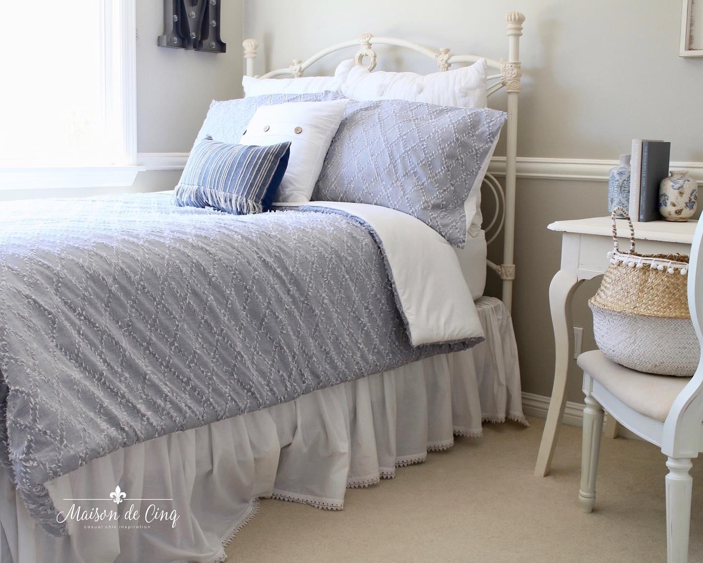 Charming cottage bedroom Instagram Post