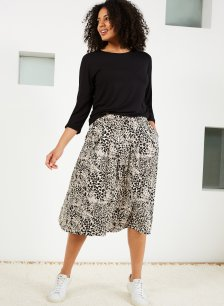 Shop Juliana Ecovero™ Skirt Almond Animal Print and more