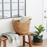 """The Curated Nomad Biltmore Seagrass Basket (SEAGRASS BASKET 21""""W, 17""""H)"""