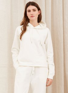 Shop Albany Organic Hoodie Soft White and more