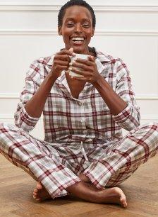 Shop Margie Pyjamas Grey & Redwood and more