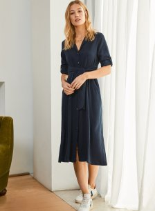 Shop Lilith Dress Classic Navy and more