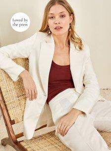 Shop Lena Blazer Soft White and more
