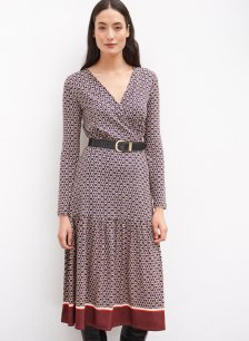 Shop Chamille Dress Navy Chain Print and more