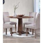 Best Master Furniture Antique Natural Oak Finish Pine Dining Table
