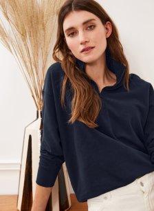 Shop Brooklyn Organic Zip Sweatshirt Classic Navy and more