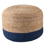 The Curated Nomad Camarillo Modern Cylindrical Shape Jute Pouf