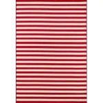 """Momeni Baja Stripe Indoor Outdoor Rug (5'3"""" x 7'6"""" - Red)"""