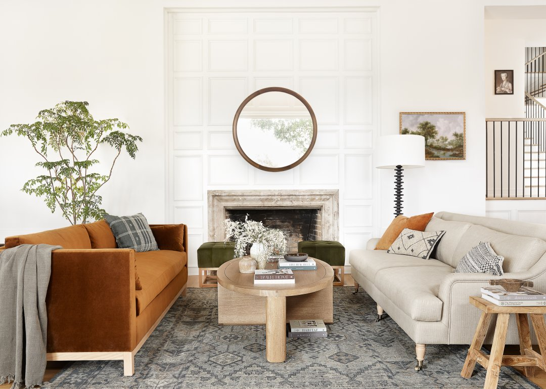 Curalate Reveal: Interactive image with Hollingworth Sofa, Cognac By Ginny...