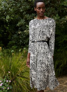Shop Juliana Ecovero™ Dress Almond Animal Print and more