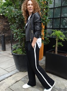 Shop Rhode Pant Caviar Black with White and more