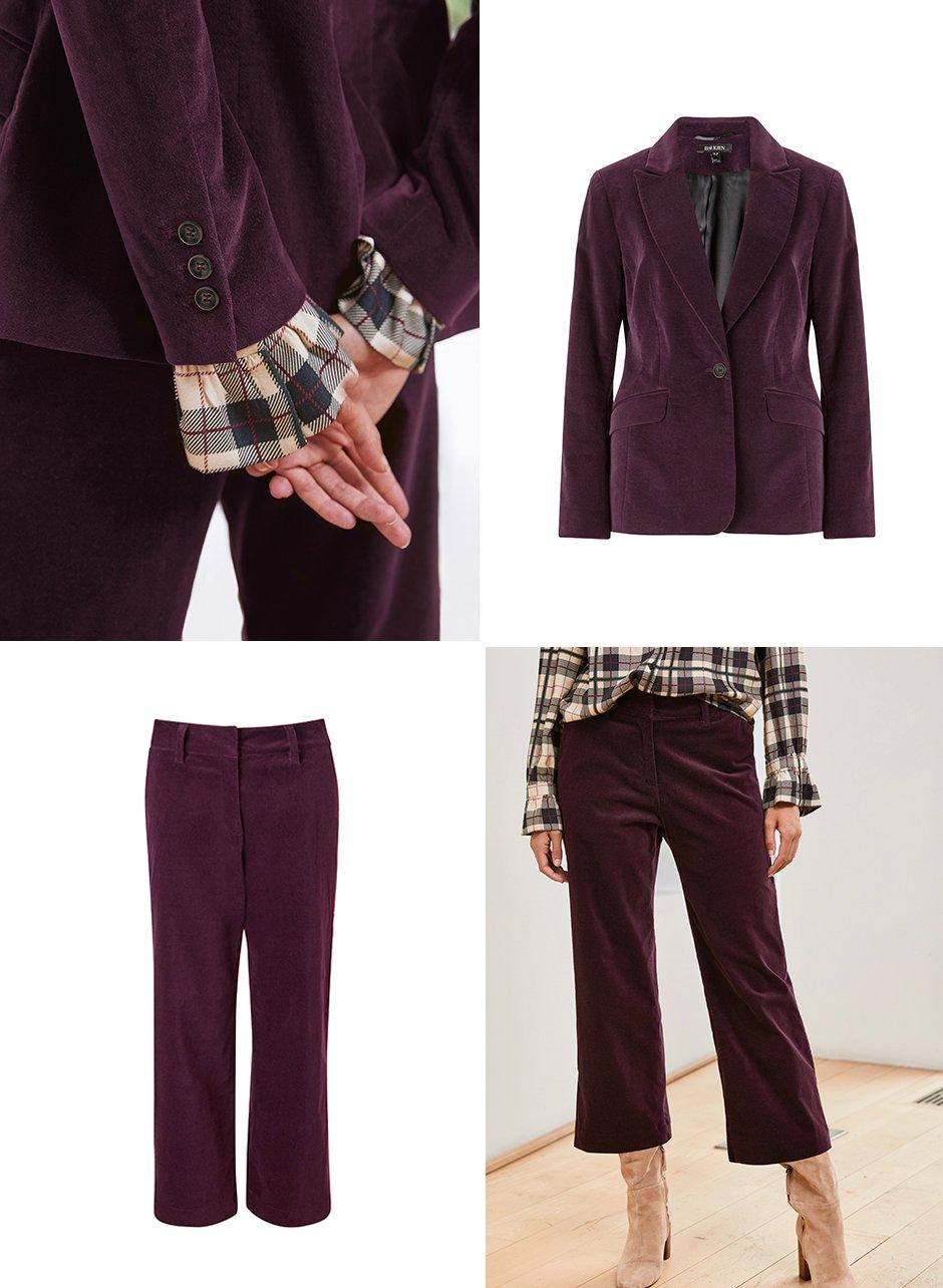 Shop Fabienne Blazer Darkest Fig, Fabienne Trouser Darkest Fig and more