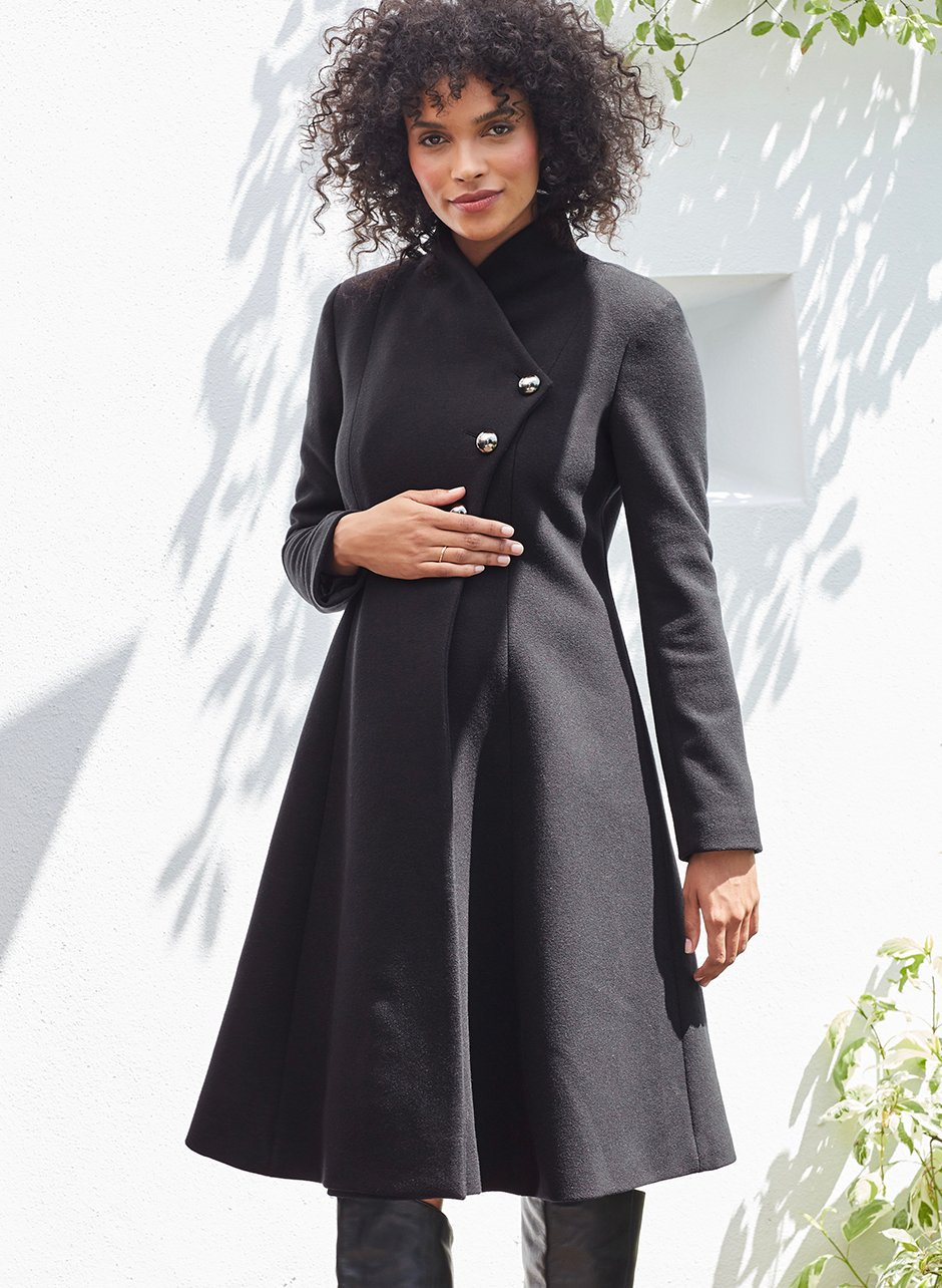 Shop Isabella Oliver Sophia Maternity Coat-Caviar Black and more