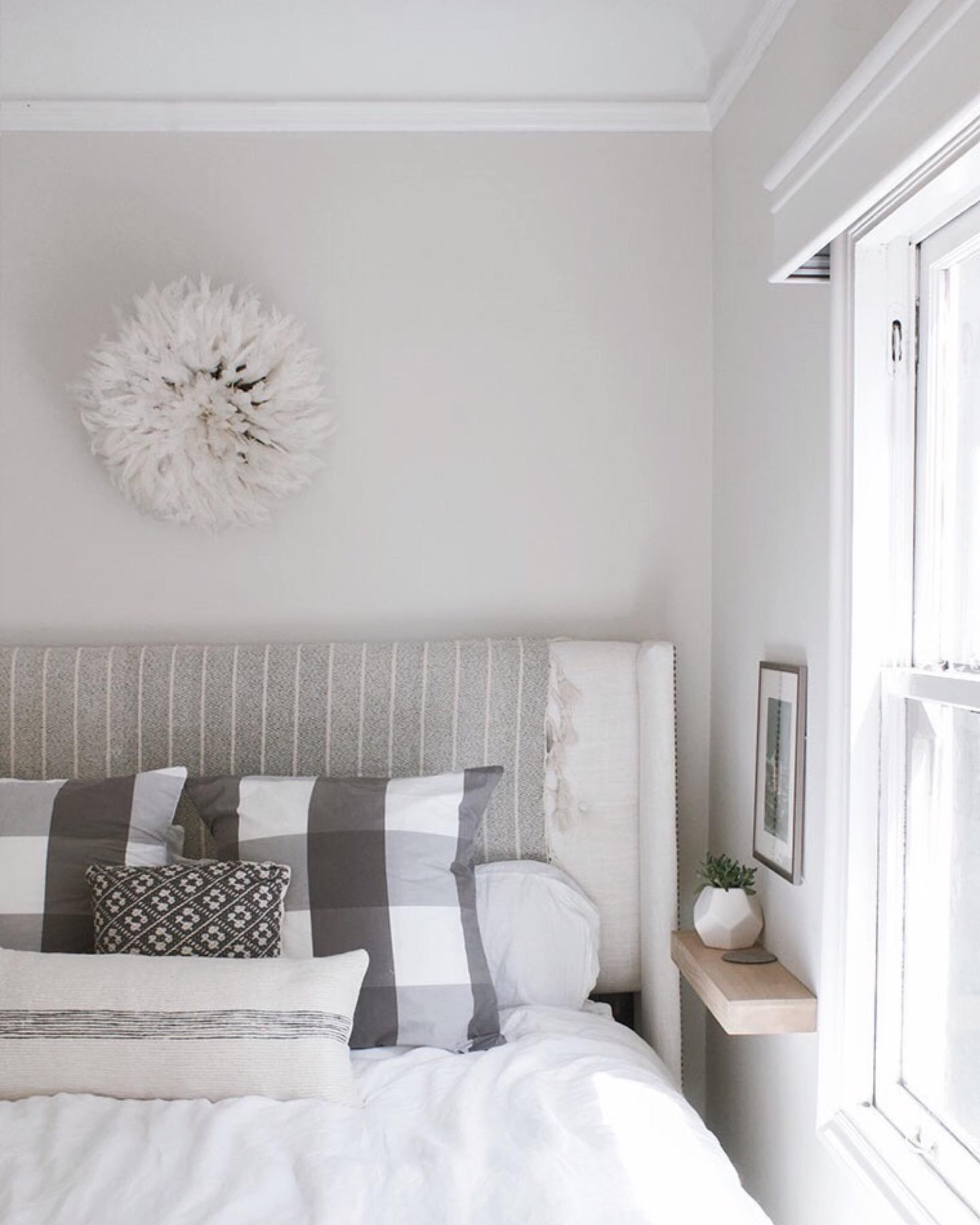 Quiet calming bedroom Instagram Post