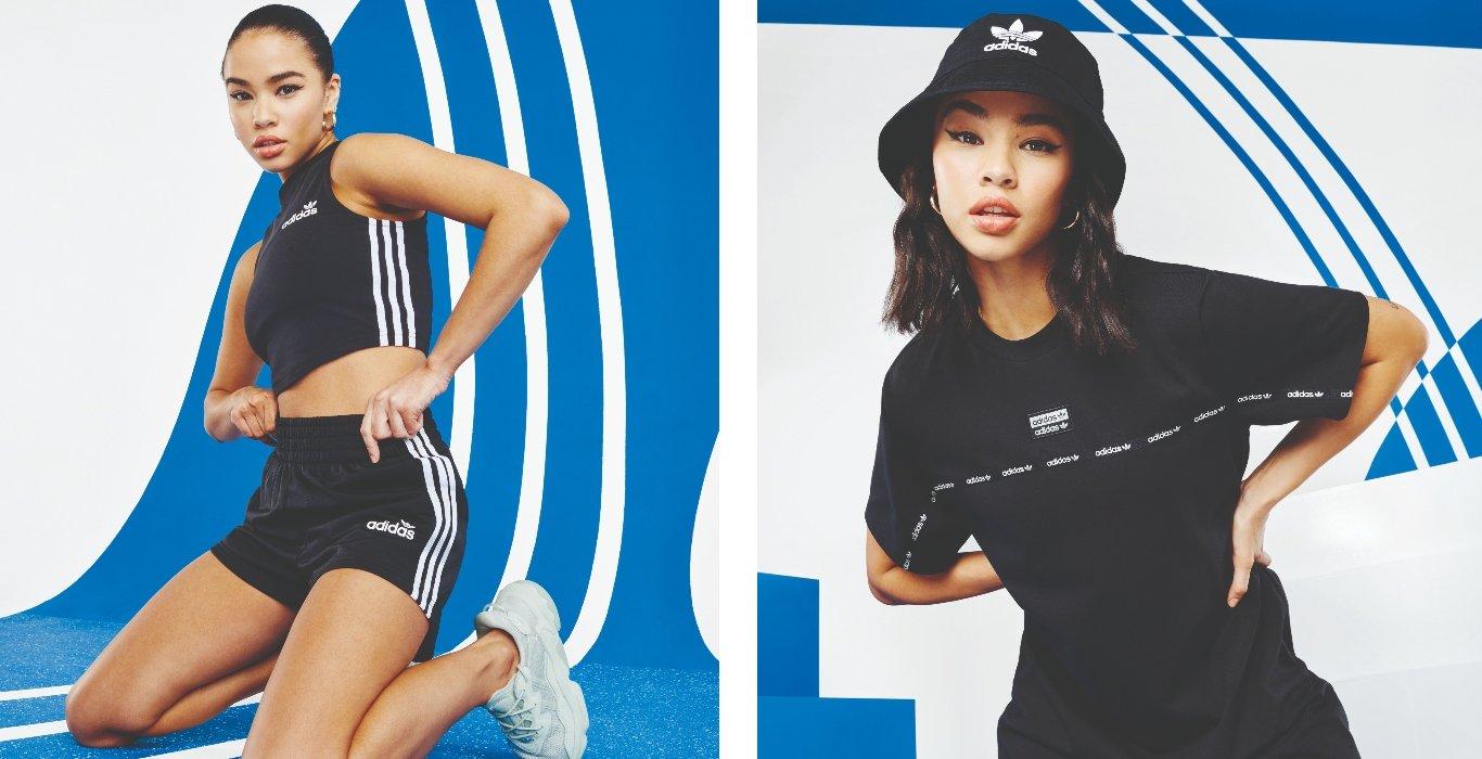 Curated image with adidas Originals Micro Tape T-Shirt Dress - Black - Womens, adidas Originals 3...