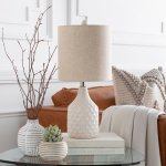 Acacio 18.5 in. Ivory Transitional Table Lamp