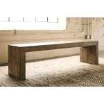 Sommerford Dining Room Bench - N/A (Single - Brown - Short - 16-22 in.)