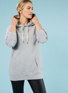Shop Brooklyn Organic Hoodie Grey Marl and more