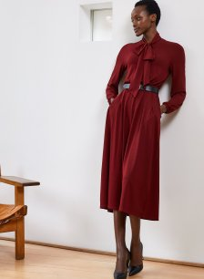 Shop Cosette Dress Oxblood and more