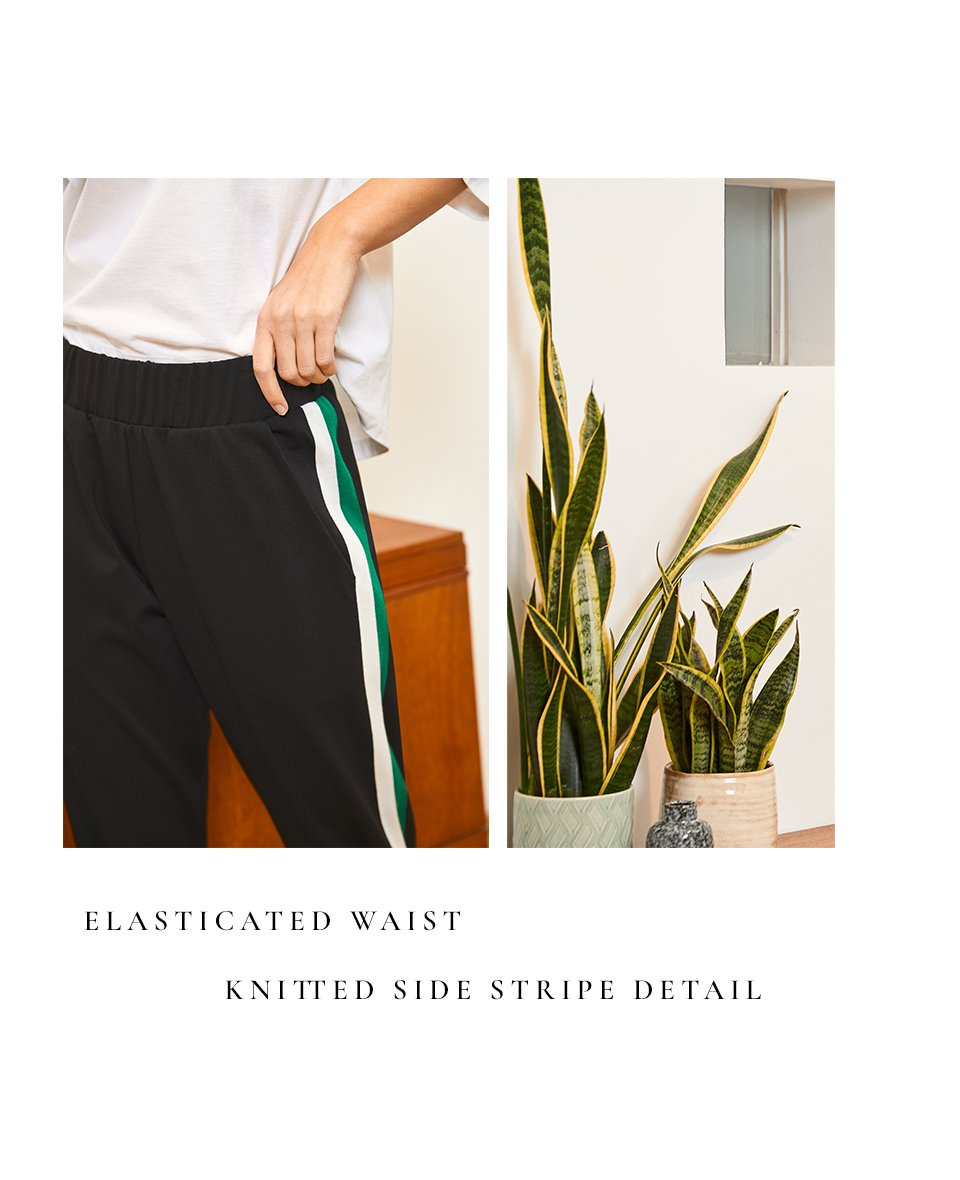 Shop Jay Pant Black with Emerald & Soft White, Kendra Organic Top Pure White and more