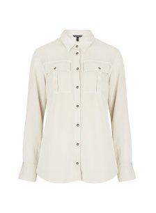 Shop Ellen Safari Shirt Cream and more