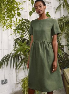 Shop Cecile Hemp Dress Khaki and more
