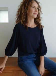 Shop Halina Ecovero™ Top Classic Navy and more
