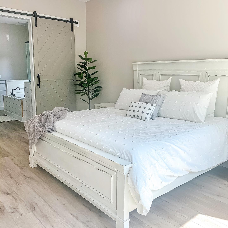 Serene farmhouse bedroom Instagram Post