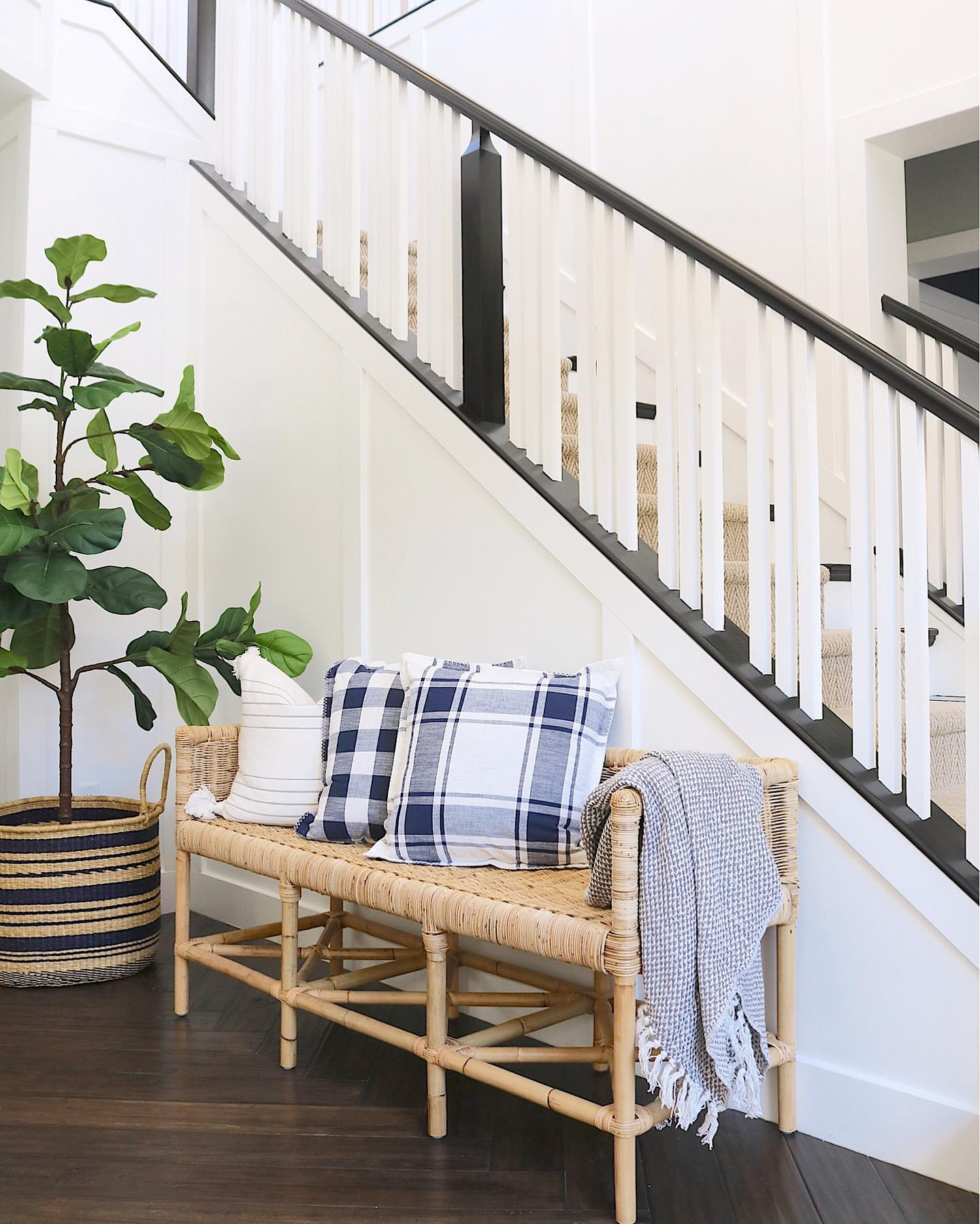 Natural eclectic entryway Instagram Post
