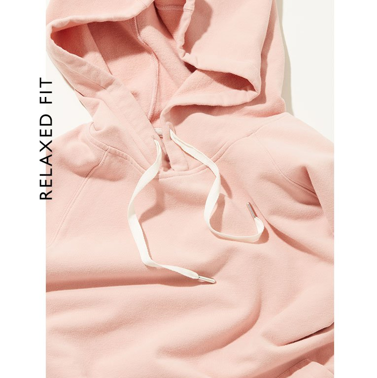 Shop Marte Organic Hoodie Rose and more