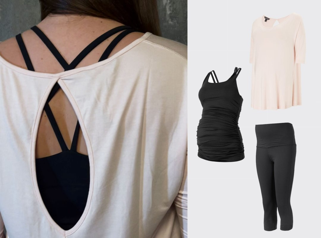 Shop Isabella Oliver The Maternity Yoga Top, Isabella Oliver Maternity Active Tank-Caviar Black, Isabella Oliver The Active Cropped Maternity Legging-Caviar Black and more