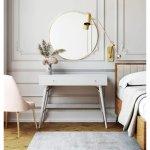 Carson Carrington Palang Mid-century Desk (White - Modern & Contemporary)