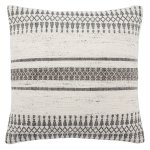 Tribal Pattern Ivory/Gray Throw Pillow 20-inch (Down)