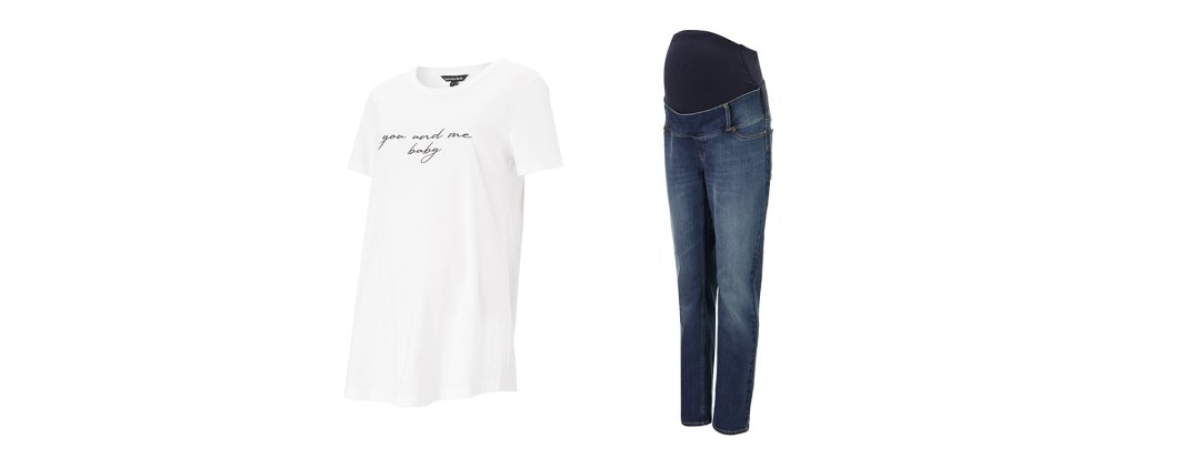 Shop Isabella Oliver Over the bump Maternity Boyfriend Jean-Washed Indigo, Isabella Oliver Thalia Maternity Tee-Pure White and more