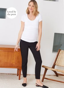 Shop Isabella Oliver Josefina Maternity Pant-Caviar Black and more