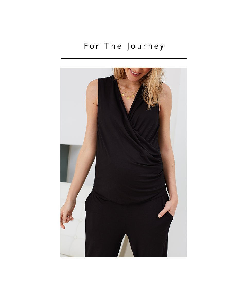 Shop Isabella Oliver Zoey Maternity Jumpsuit-Caviar Black and more