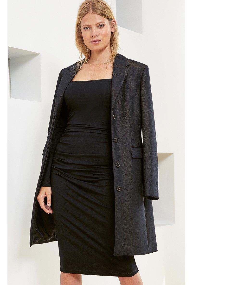 Shop Fenna Coat Caviar Black, Roberta Dress Caviar Black and more
